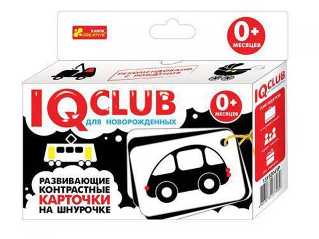 Пособие Ranok Creative IQ Club Развивающие контрастные карточки на шнурочке Транспорт 13152041Р цена