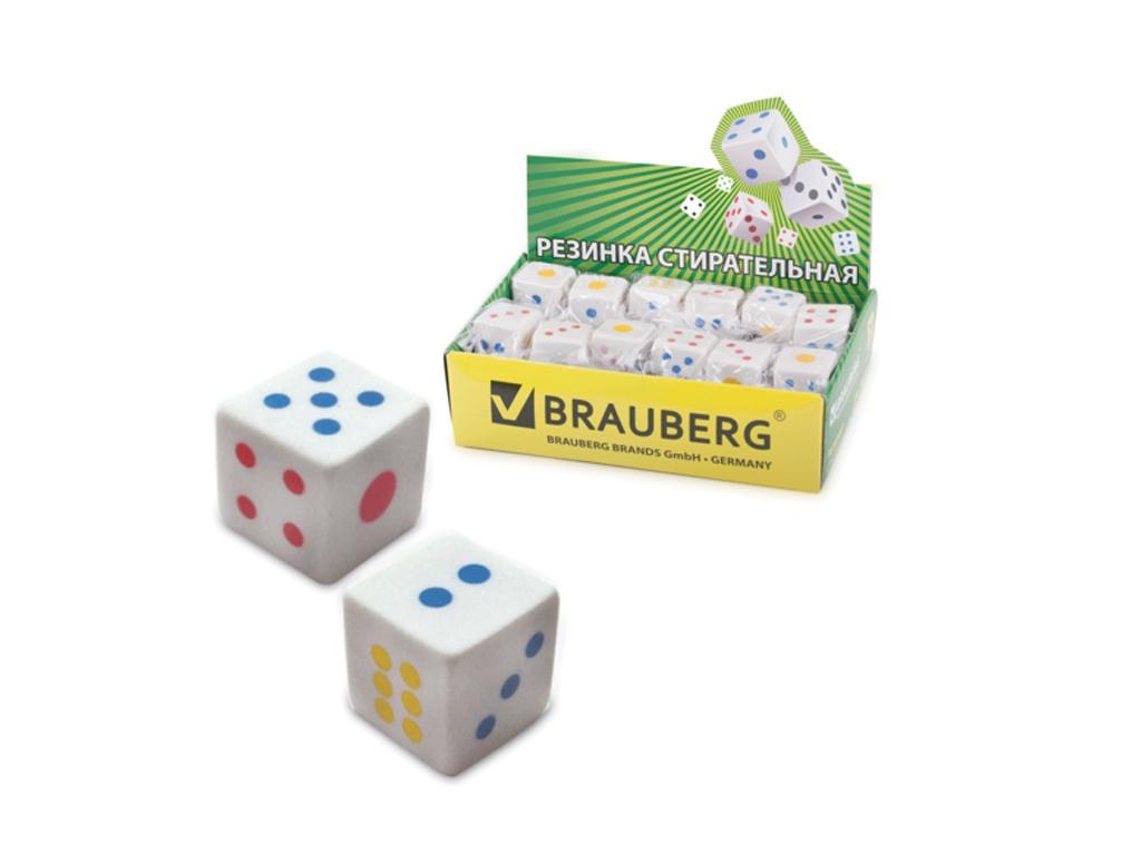 Резинка стирательная Brauberg Game White 223605
