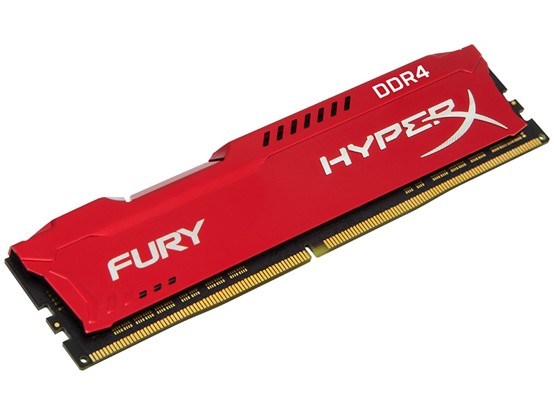 Модуль памяти Kingston HyperX Fury DDR4 DIMM 2400MHz PC4-19200 CL15 - 16Gb HX424C15FR/16