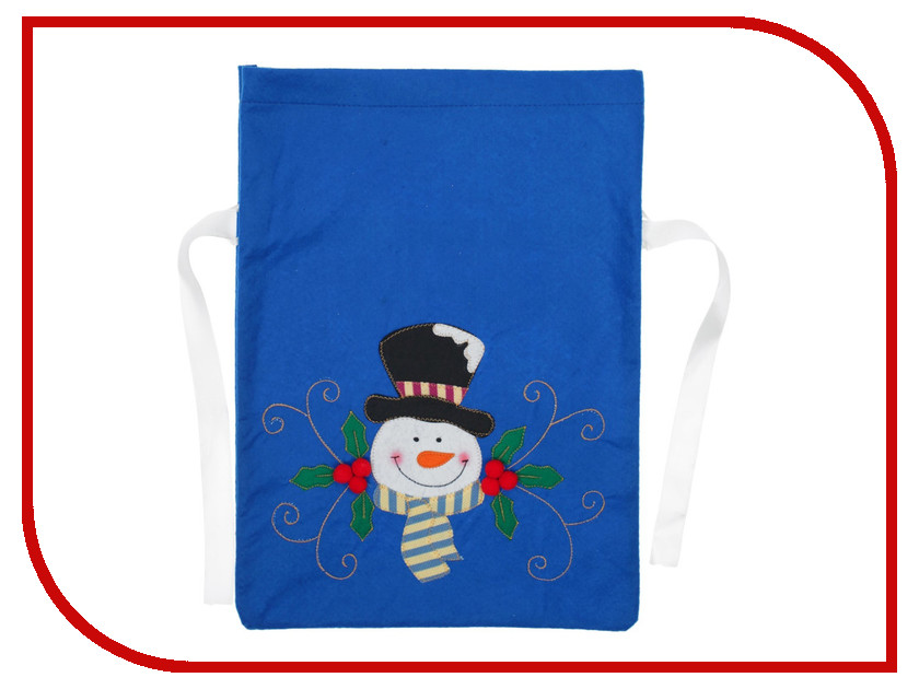 Новогодний сувенир СИМА-ЛЕНД Мешок для подарков Снеговик в шляпе 3467065 кухонный набор сима ленд шеф повар хрюша 3505364
