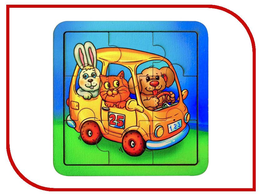 Пазл Smile Decor Автобус со зверушками 2499200 головоломка smile decor коты 1481959