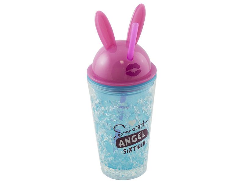 Термокружка Эврика Ледяной стакан Зайчик Angel 450ml 99021