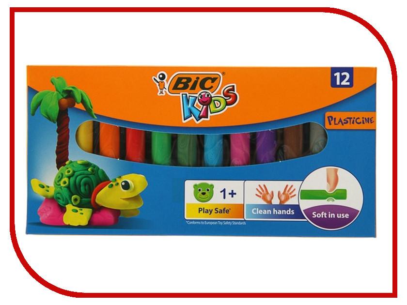 Набор для лепки Bic Kids Пластилин 12 цветов 120гр 947713 фломастеры bic kids colour