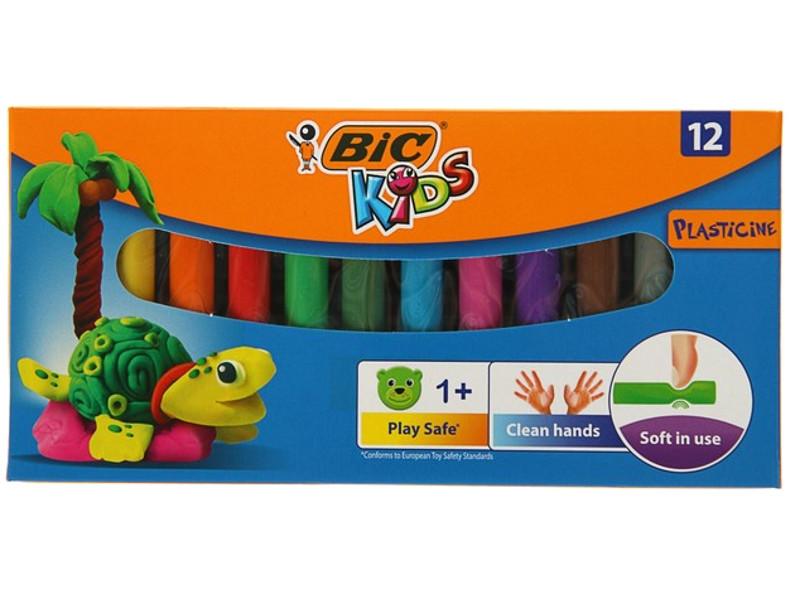 Набор для лепки Bic Kids Пластилин 12 цветов 120гр 947713