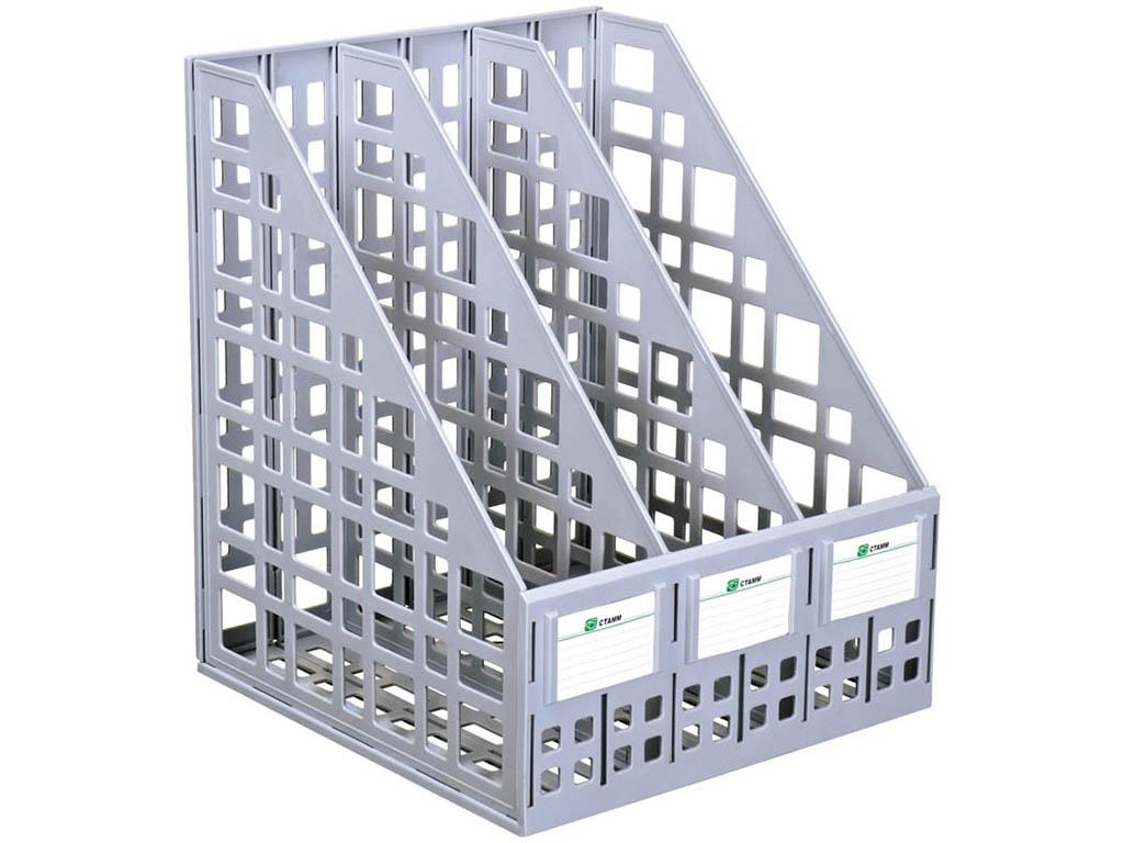 Лоток вертикальный СТАММ ЛТ80 3шт/уп Grey 235646