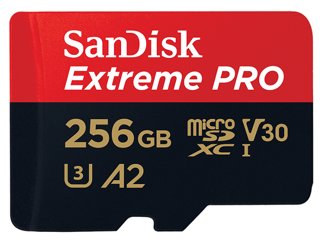 Карта памяти 256Gb - SanDisk MicroSD Extreme Pro Class 10 SDSQXCZ-256G-GN6MA с переходником под SD