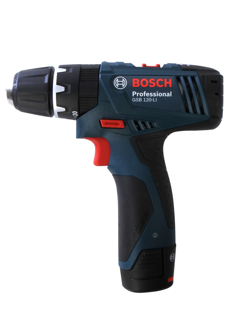Электроинструмент BOSCH GSB 120-LI 1.5Ач х2 кейс
