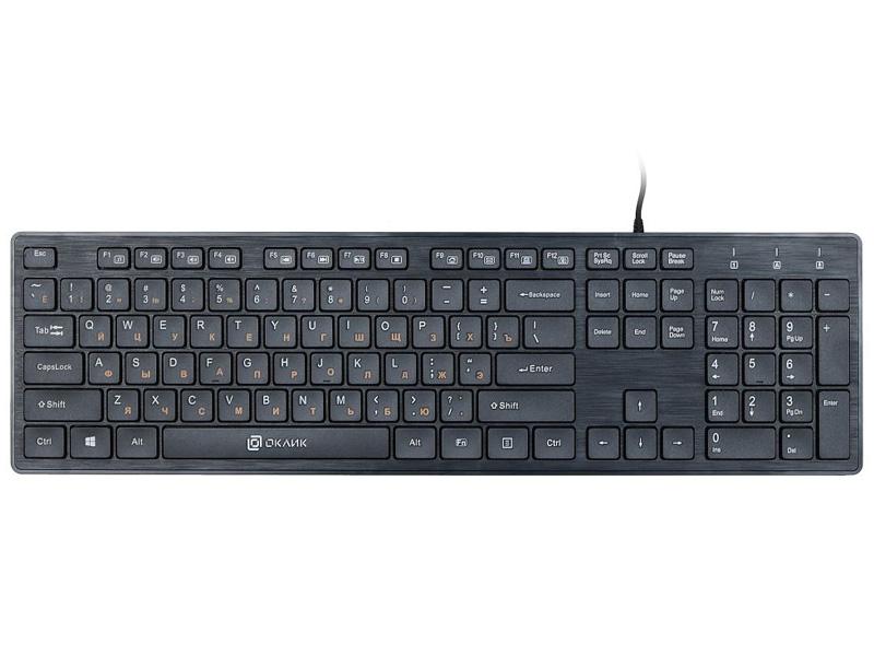 Клавиатура Oklick 520M2U Black USB цена