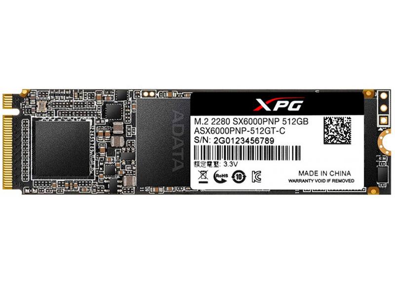 Твердотельный накопитель A-Data XPG SX6000 Pro 512Gb ASX6000PNP-512GT-C