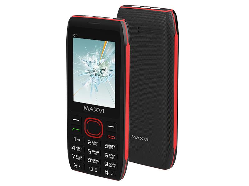 Сотовый телефон MAXVI C17 Black-Red сотовый телефон maxvi m5 black