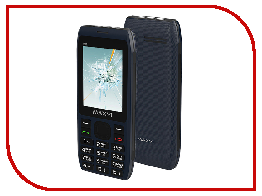 Сотовый телефон MAXVI C17 Marengo проводной и dect телефон foreign products vtech ds6671 3