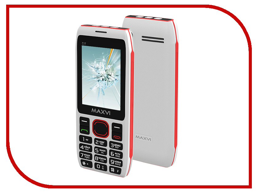 Сотовый телефон MAXVI C17 White-Red телефон