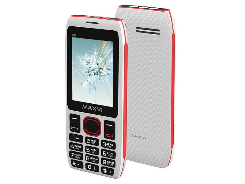 цена на Сотовый телефон MAXVI C17 White-Red