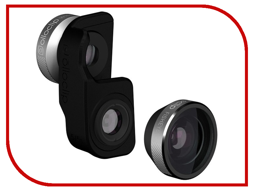 Аксессуар Объектив для APPLE iPhone SE Olloclip 4 in One Silver-Black OC-0000209-EA