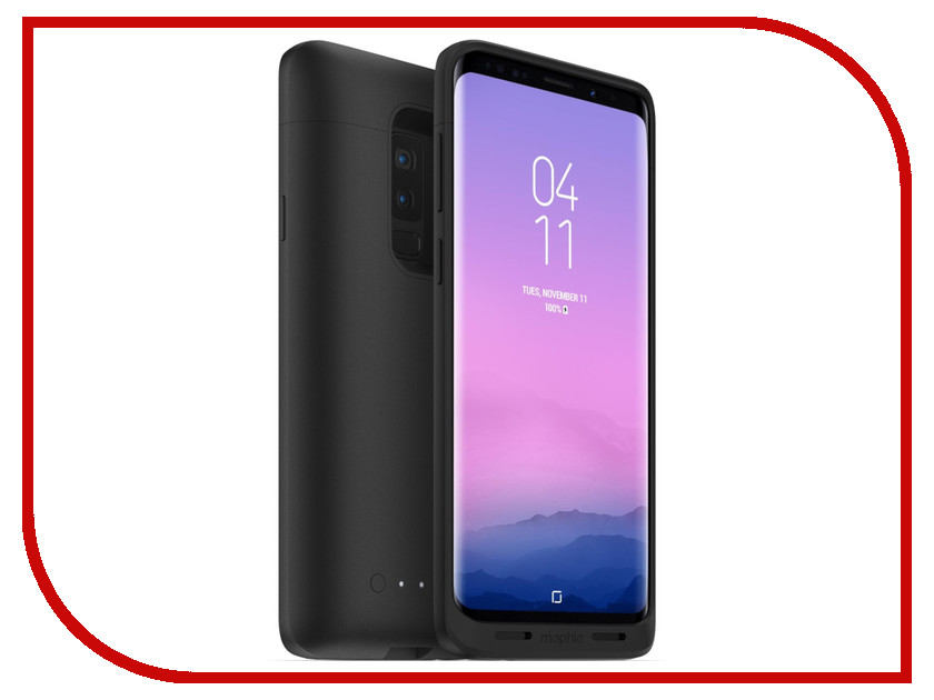 Аксессуар Чехол-аккумулятор Mophie Juice Pack для Samsung Galaxy S9 Plus 2070mAh Black 401001481 аккумулятор mophie power boost xl v2 10400mah black 4081