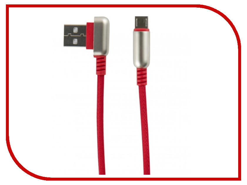 Аксессуар Red Line Loop USB - MicroUSB Red УТ000016354 аксессуар red line fit usb microusb blue ут000015526