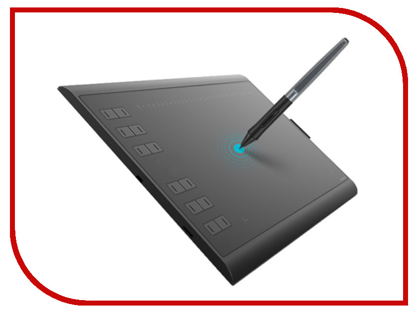 Графический планшет Huion H1060P Black графический планшет huion h610pro