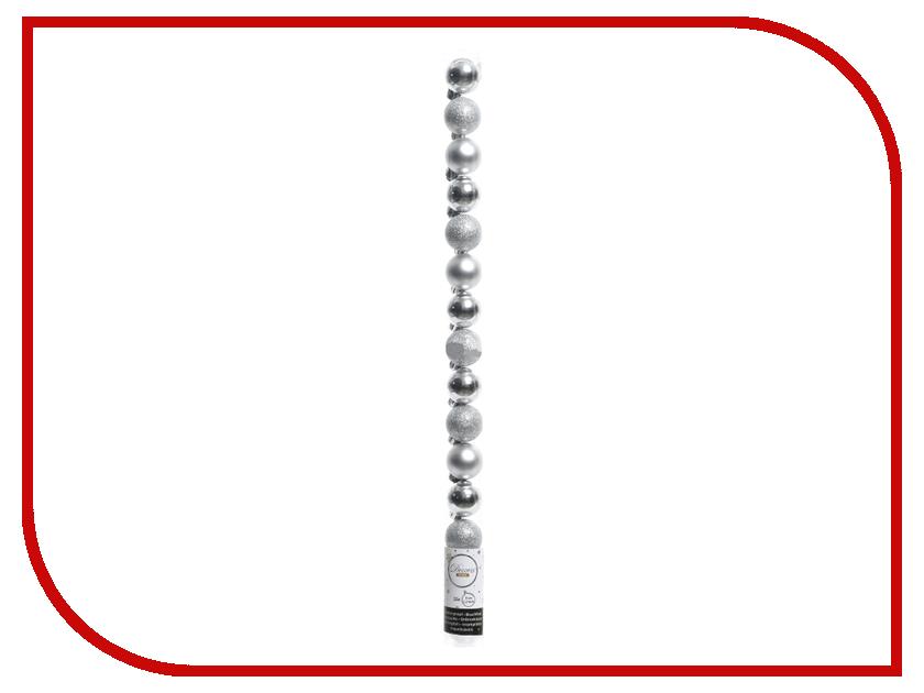 Украшение Kaemingk Набор шаров Миниатюрные 3cm 15шт Silver 021671 украшение kaemingk щелкунчик green 027370