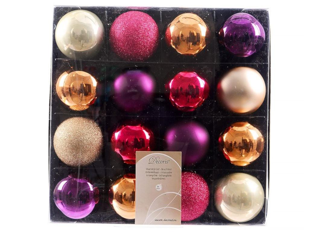 Украшение Kaemingk Набор шаров Deluxe Южный вечер 6cm 16шт 023640 цены онлайн
