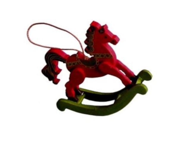 цена на Украшение Breitner Лошадка-качалка 6cm Red XY4538