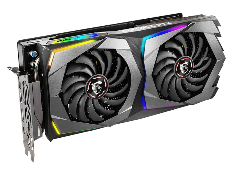 Видеокарта MSI GeForce RTX 2070 1410Mhz PCI-E 3.0 8192Mb 14000Mhz 256 bit USB-C HDMI 3xDP GAMING 8G