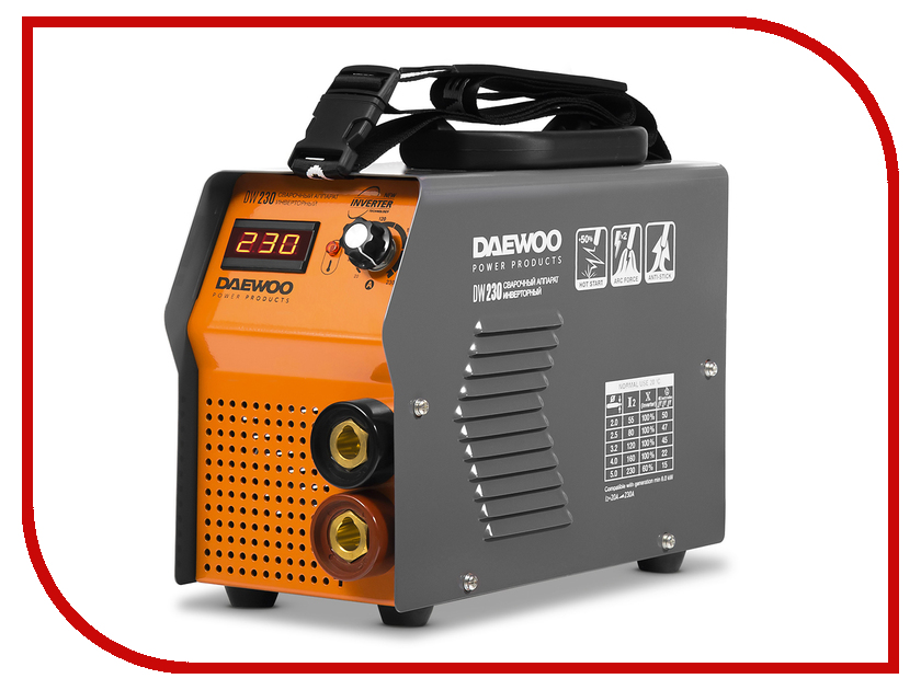 Сварочный аппарат Daewoo DW 230 сварочный аппарат daewoo dw 160 mma