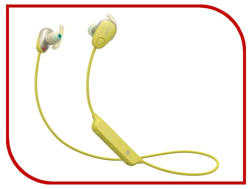 Sony WI-SP600N Yellow sony sony wi c400 синий беспроводная стерео гарнитура