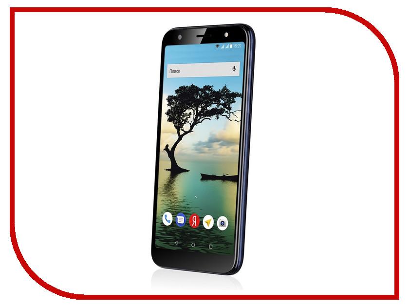 Сотовый телефон Fly Slimline Black Blue сотовый телефон fly fs523 cirrus 16 lte black