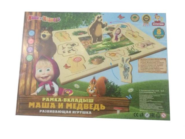 Развивающая игрушка Буратино Маша и Медведь Рамка-вкладыш в пленке WTS62570-R