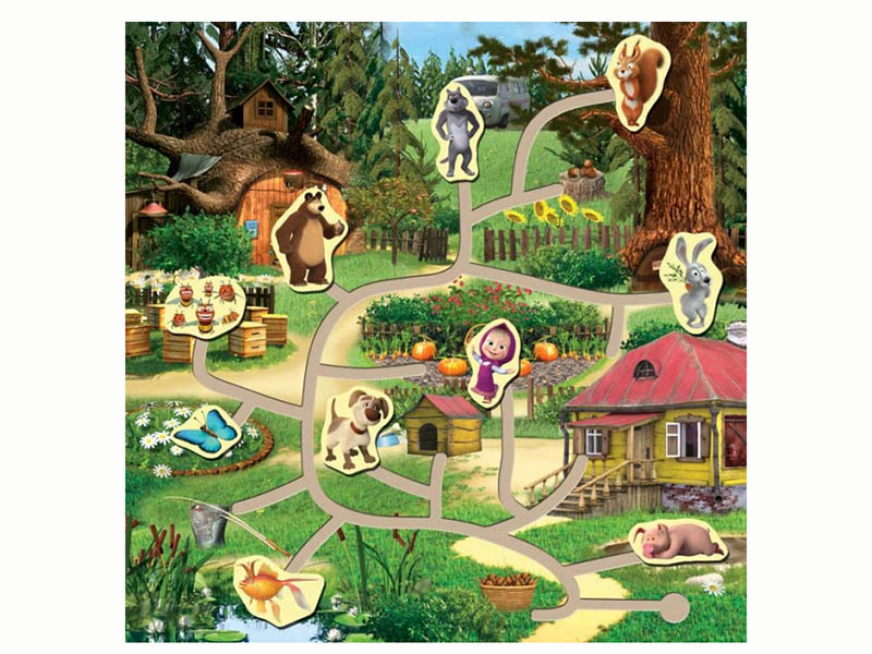 Развивающая игрушка Буратино Маша и Медведь Лабиринт 24276-1-R