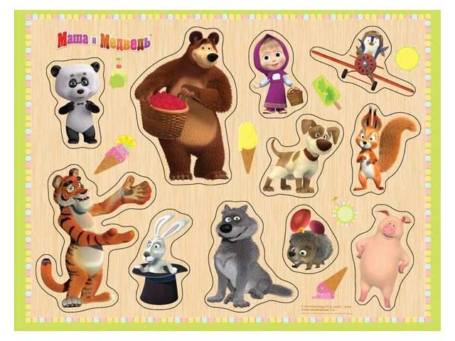 Развивающая игрушка Буратино Маша и Медведь Найди пару 26-29