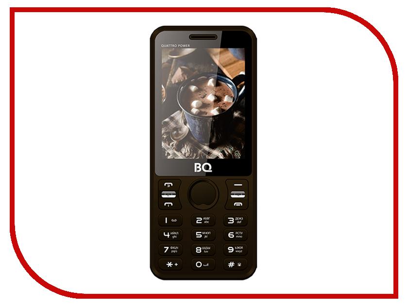 Сотовый телефон BQ 2812 Quattro Power Brown сотовый телефон bq bq 5520l silk brown