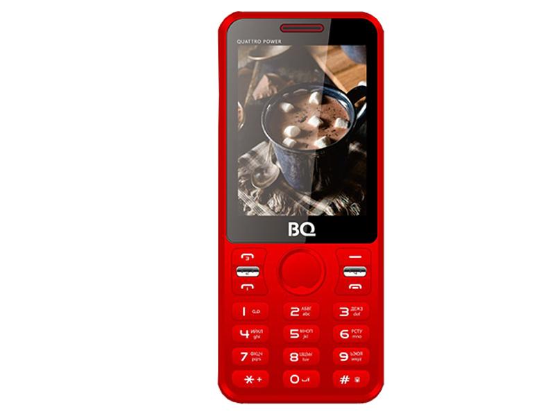 Сотовый телефон BQ 2812 Quattro Power Red
