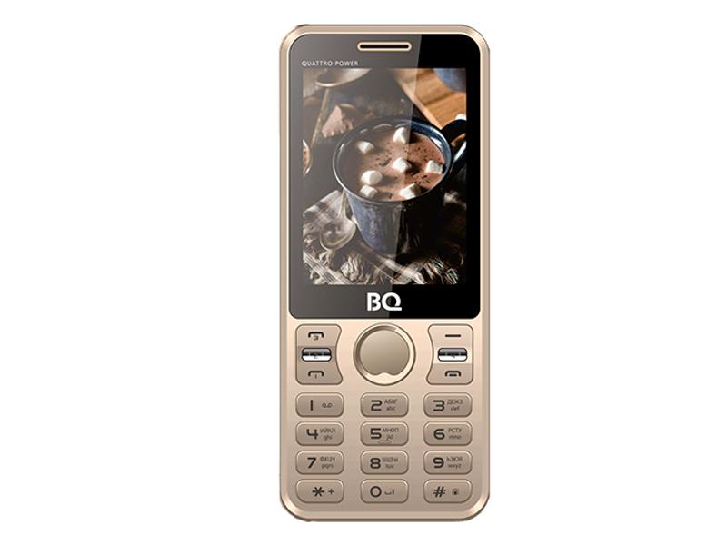 Сотовый телефон BQ 2812 Quattro Power Gold сотовый телефон bq bq 6010g practic gold