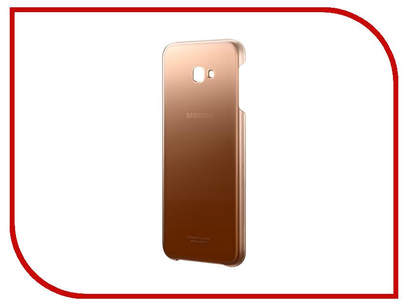 Аксессуар Чехол Samsung Galaxy J4 Plus J415 EF-AJ415CFEGRU Gradation Cover Gold аксессуар чехол samsung j3 2017 j330f zibelino clear view black zcv sam j330 blk