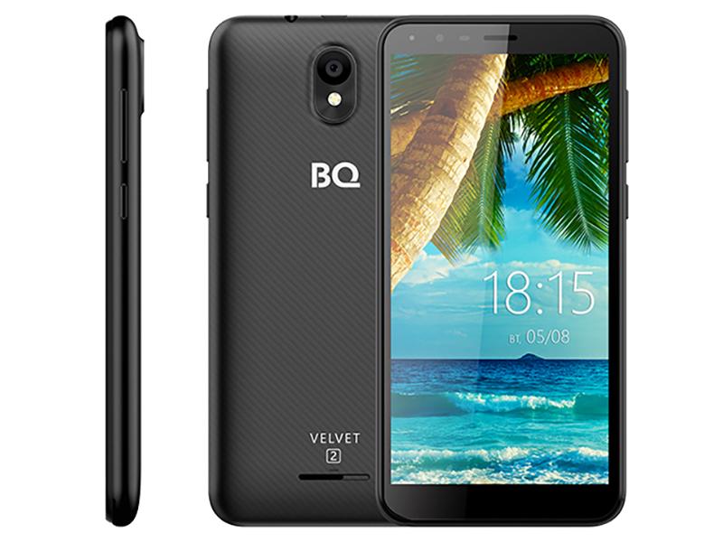 Сотовый телефон BQ 5302G Velvet 2 Black смартфон bq mobile bq 5302g velvet 2 mint blue
