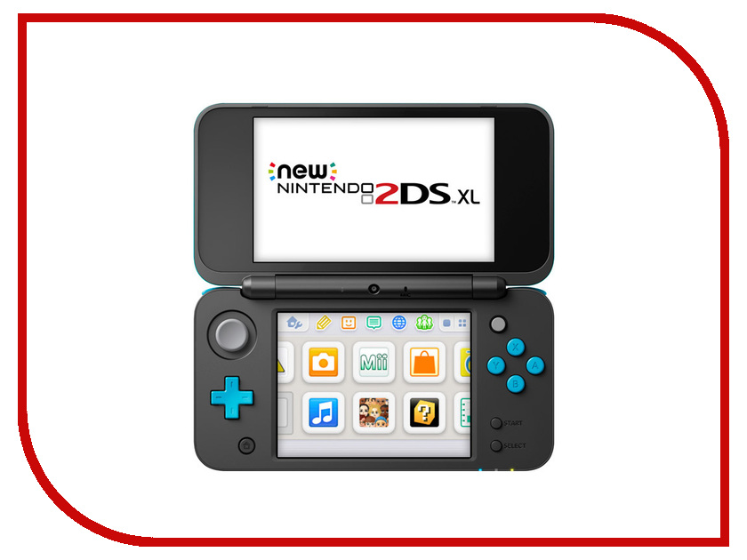 Игровая приставка Nintendo 2DS XL Black-Turquoise + Super Mario 3D Land ConNd2D12 абена abena абри фикс super белье фиксирующее xl 3шт