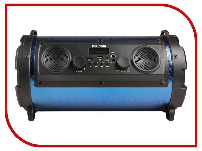 Минисистема Hyundai H-MC200 Black-Blue цена и фото