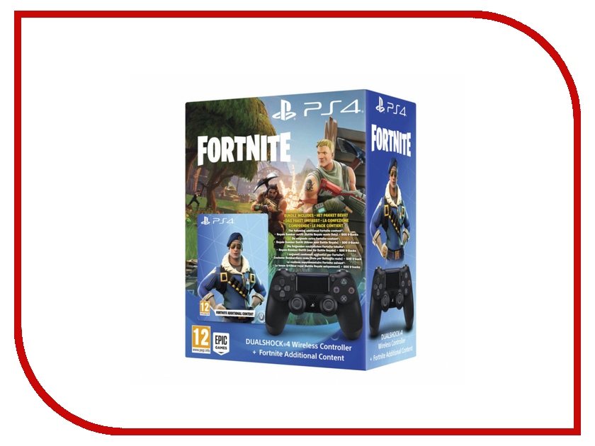 Геймпад Sony DualShock 4 V2 Black CUH-ZCT2E + Fortnite Voucher ACPS4149 20 50 100 pcs button ribbon circuit board film pad replace for ps4 controller dualshock 4