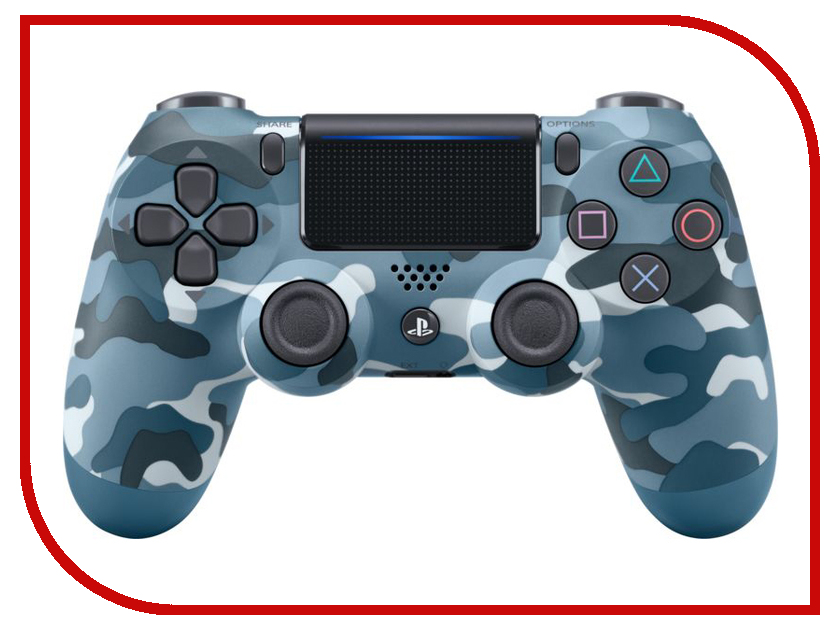 Геймпад Sony DualShock 4 V2 Camouflage Blue CUH-ZCT2E ACPS4148 20 50 100 pcs button ribbon circuit board film pad replace for ps4 controller dualshock 4