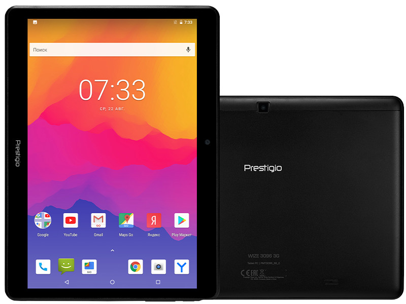 Планшет Prestigio MultiPad Wize 3096 Black Metal PMT3096_3G_C_CIS (MediaTek MTK8321 1.3 GHz/1024Mb/8Gb/3G/Wi-Fi/Bluetooth/Cam/9.6/1280x800/Android)
