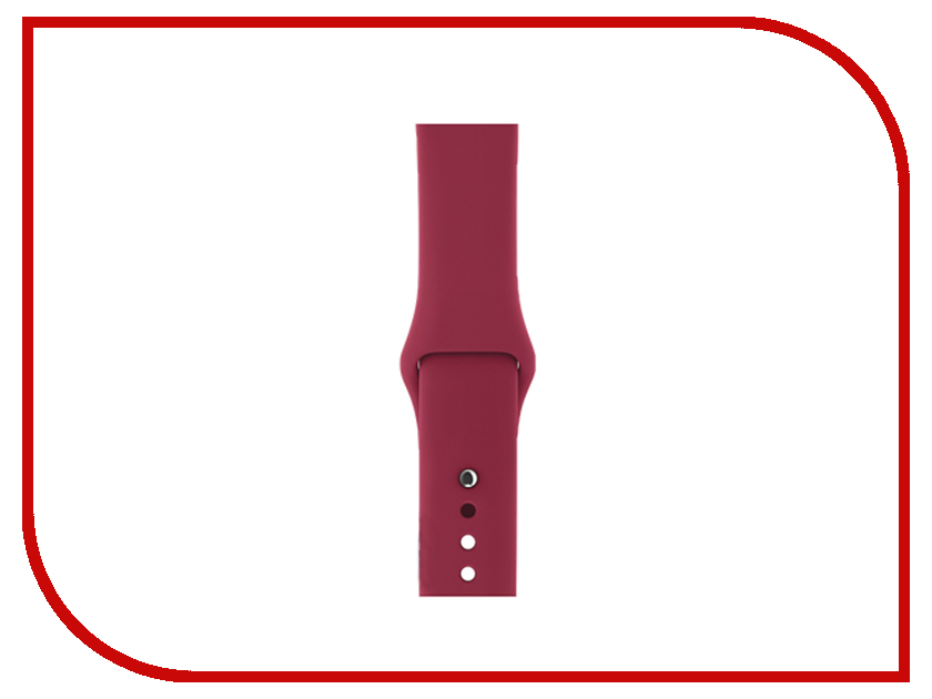 Аксессуар Ремешок Gurdini Sport Silicone для APPLE Watch 42mm/44mm Rose Red 906490 44mm watch portuguese classic rose gold plated case ss fit eta 6498 6497 eat movement 12
