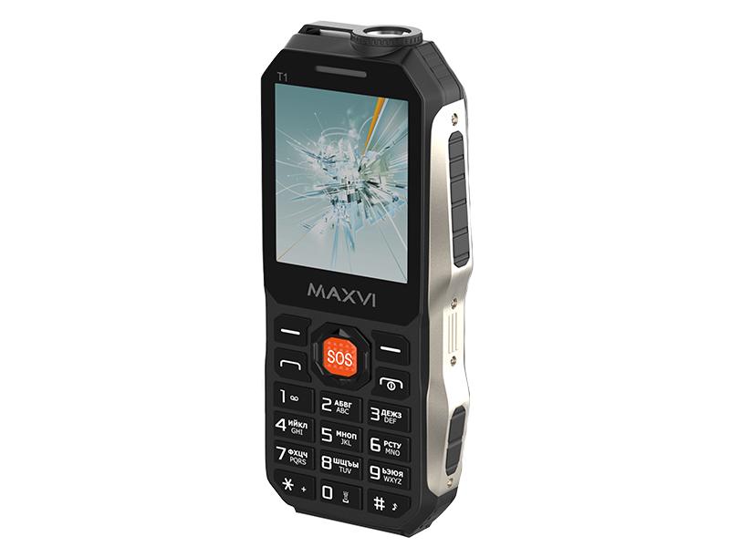 Сотовый телефон Maxvi T1 Black сотовый