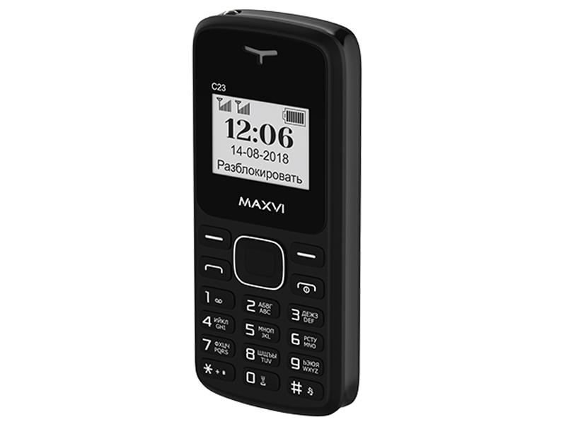 Сотовый телефон Maxvi C23 Black сотовый телефон maxvi c17 white red