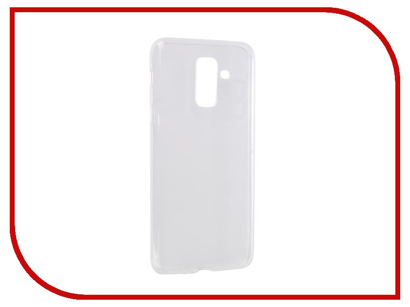Аксессуар Чехол для Samsung Galaxy J8 J810F 2018 Svekla Silikon Transparent SV-SGJ810F-WH аксессуар чехол для samsung galaxy s9 sd845 svekla black tr svsamsd845 bl