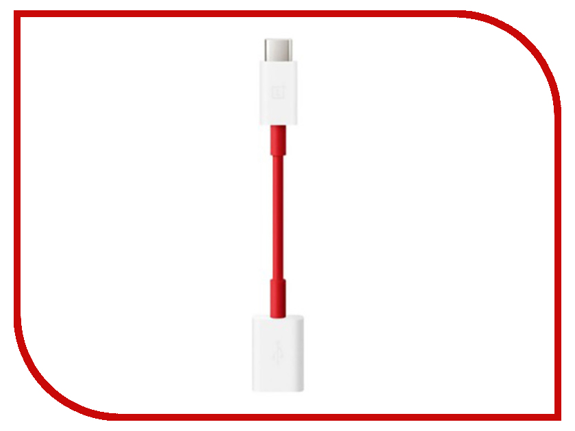 Аксессуар OnePlus Type-C OTG Cable 10.8cm Red-White orico type c otg adapter to usb2 0 data cable for macbook extended u disk mouse white ct2