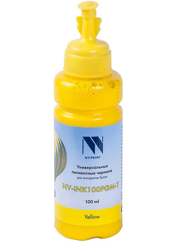 Чернила NV Print NV-INK100PGM-Y универсальные Yellow 100ml для Epson