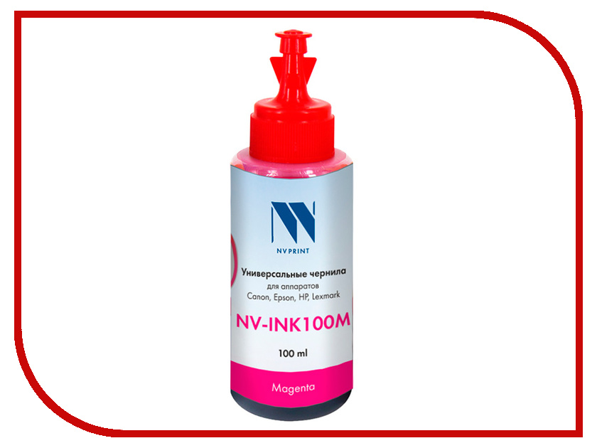 Чернила NV Print NV-INK100 универсальные Light Magenta 100ml для Epson 1000ml lm edible ink suit for epson