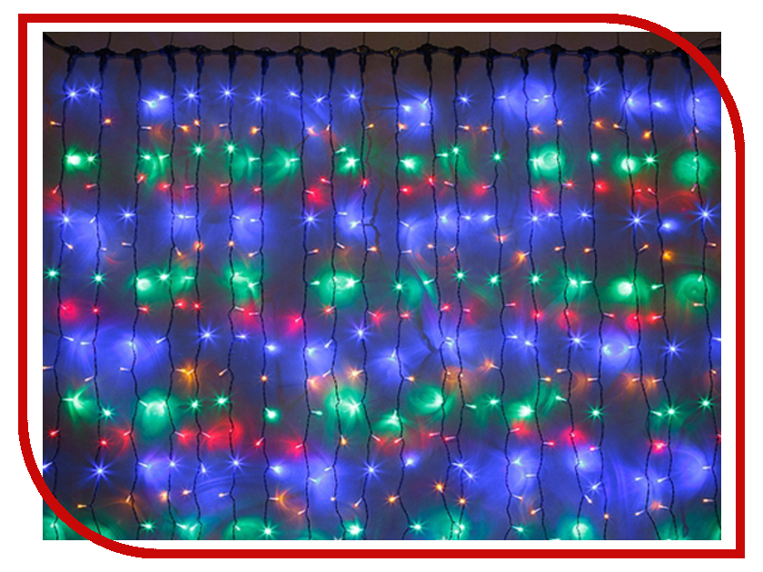 Гирлянда SnowHouse Занавес 250 LED Multicolored CL250C-M diy 12 in 1 nail art cell phone decoration acrylic rhinestones set multicolored