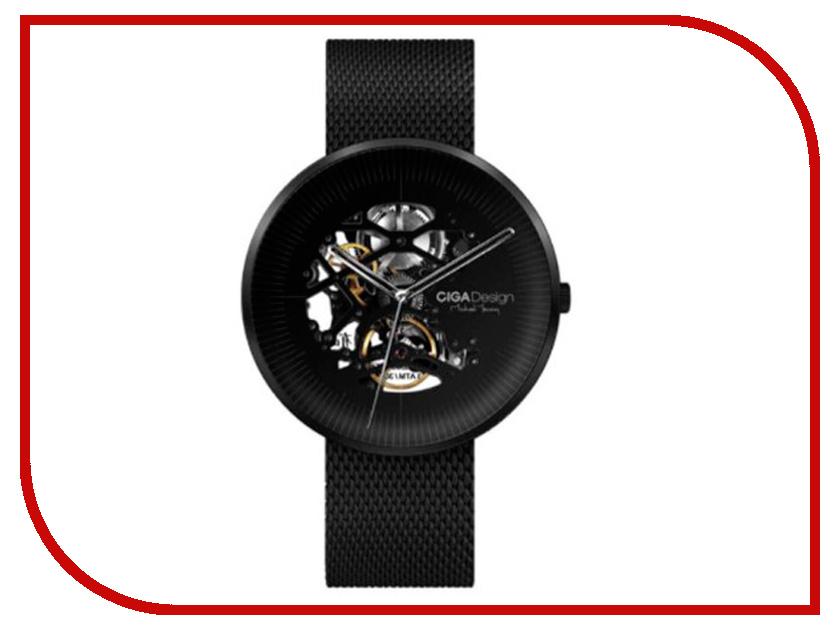 Часы наручные аналоговые Xiaomi CIGA Design Mechanical Watch Jia MY Series Black new luxury brand lige automatic mechanical watch men fashion gold full steel sport waterproof business watches relogio masculino